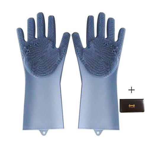 Silicon Dish scrubber guanto, riutilizzabili, spazzola lavapiatti scrubber al calore magico pulizia...
