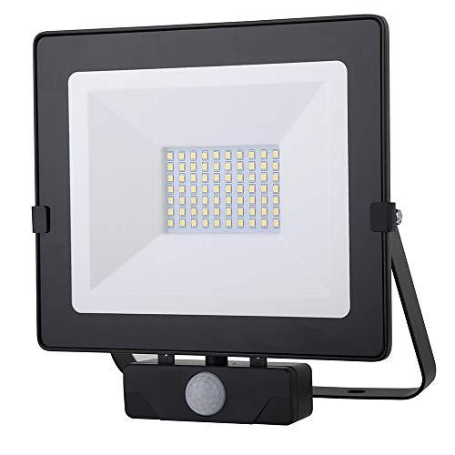 Chestele Faro LED Esterno,Faretto con Sensore di Movimento 50w,Impermeabile IP54 4000LM 4000K 400W...