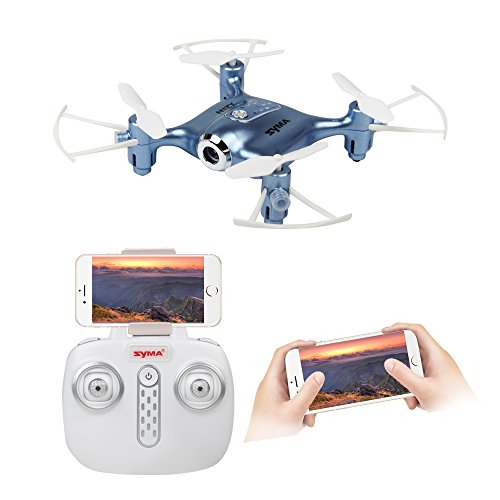 Syma X21W 2.4GHz Mini WIFI trasmissione in tempo reale Drone con fotocamera HD, un decollo o...