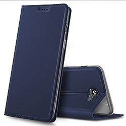 60e27f7c285 iBetter Funda Samsung Galaxy J7 Prime 2018, Flip Cover Carcasa PU Silicio Protectora  de Carcasa