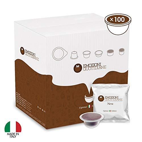 Emozioni Quotidiane Caffe - Box Da 100 Capsule Compatibili Bialetti Espresso Napoletano Cremoso...