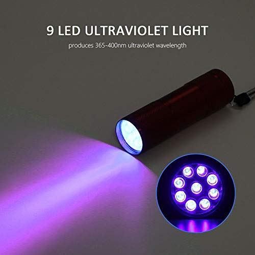 Bulfyss Mini UV Flashlight Black Light Pets Urine, Dogs Stains, Cats Odour Detector, Find on Carpet
