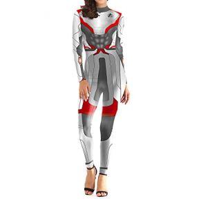 QQWE The Avengers 4 Quantum Warrior Cosplay Mujeres Disfraces Ropa Marvel Hero Juego de rol Body Trajes de Spandex,A-M