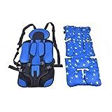 Kreema Bébé Enfant Sécurité Siège De Voiture en Bas Âge Doux Carrier Coussin Enfants Chaise Portable Convertible Booster avec Protection Pad Bleu
