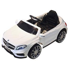 HOMCOM Coche Eléctrico para Niño 3+ Años Automóviles Infantiles Mercedes Benz GLA con Mando a Distancia MP3 USB Luces y…