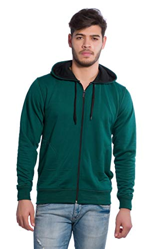 Alan Jones Clothing Men's Hooded Cotton Sweatshirt (Green, Large)