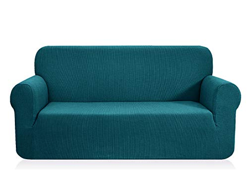 CHUN YI 1-Pezzo Copridivano Elasticizzato Coprisofà Jacquard in Tessuto Elastico Colore a Scelta (Divano, Azzurro)