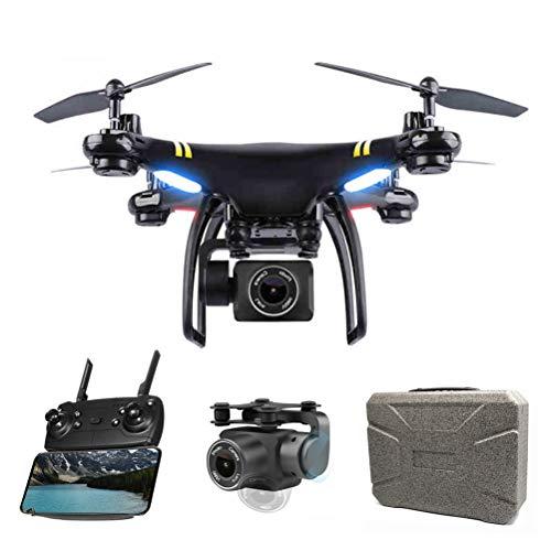 JHSHENGSHI Drone Professionale Drone 4k Pieghevole Drone GPS FPV RC HD WiFi FPV Quadricottero Funzione Seguimi modalità Senza Testa Motore Brushless Potensic, Black