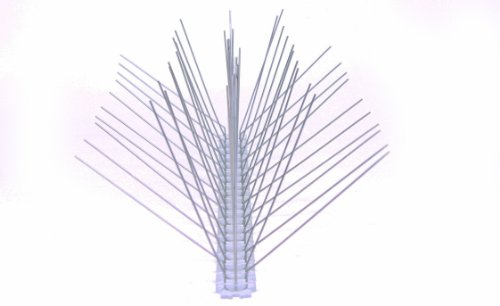 6 Stück 50 cm 5 reihig Edelstahl Taubenabwehr Vogelabwehr Taubenspikes Polycarbonat Profiqualität jetzt mit A+ Zertifizierung von MD