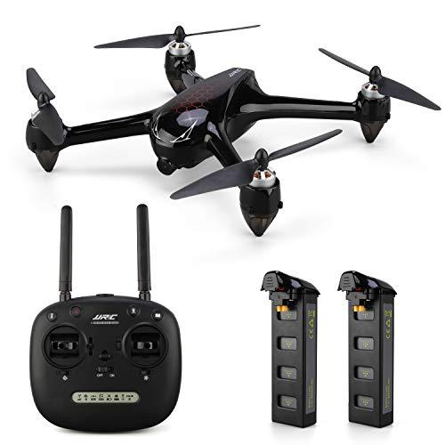 INKPOT JJRC JJPRO X8 GPS Drone con videocamera grandangolare 1080P HD Quadcopter Punto di Interesse Volo, Una Chiave Ritorno a casa, Motore brushless, Volo 18 + 18 Minuti, Borsa collegata