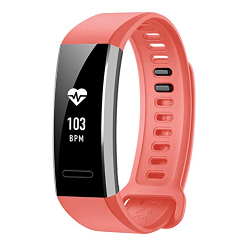 YuStar - Cinturino di ricambio per smartwatch Huawei Band 2/Band 2 Pro, in morbido silicone, regolabile, Uomo/Donna, rosa, 140-205mm/ 5.5-8.1inch