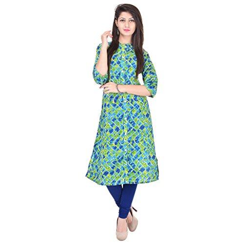Rajmandirfabrics Women's Cotton Kurti (PK1015319Multi-L_Multi-Coloured_Large)