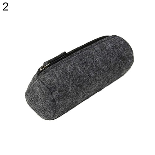 gfjhgkyu semplice feltro zipper cosmetici della matita sacchetto della penna scuola forniture...