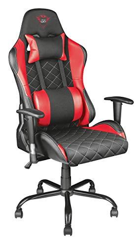 Trust Gaming GXT 707R Resto Sedia Gaming Ergonomica Regolabile, con Cuscini Rimovibili, Rosso