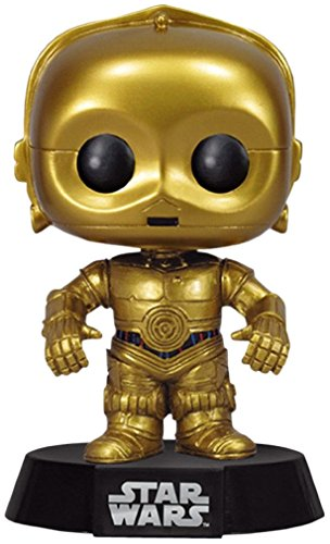 FUNKO Pop! Star Wars: C-3PO Collectible figure Star Wars - action figures & collectibles (Collectible figure, Dibujos animados, Star Wars, Negro, Oro, Vinilo, Caja) - Figura Star Wars Funko C3PO (10cm)