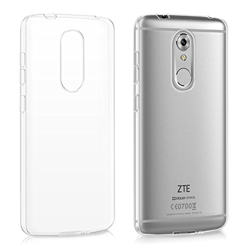 kwmobile Funda para ZTE Axon 7 Mini - Carcasa Protectora de [TPU] para móvil - Cover [Trasero] en [Transparente]
