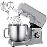 Cookmii Küchenmaschine 1800W Hohe Energie Knetmaschine Praxis Rührmaschine 6.5L, 6-stufige Geschwindigkeit Teigmaschine (Silber) Mehrweg