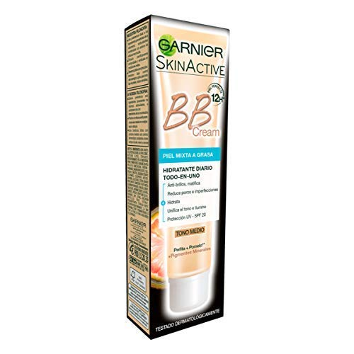 Garnier Skin Active BB Cream Matificante Crema Correctora y Anti Imperfecciones para Pieles Mixtas a...