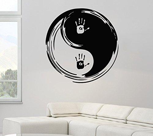 zhuziji Adesivi murali Disegnati Arte Cinese Tradizionale Ying Yang Pattern con Stampa murale Cool...