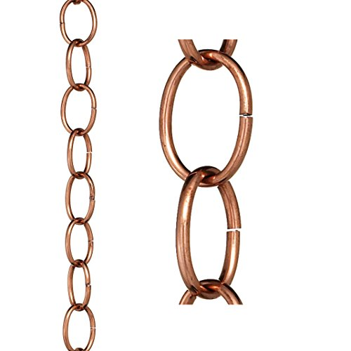 Good Directions Small Single Link Pure Copper 8.5-Foot Rain Chain
