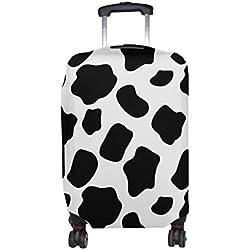 COOSUN Patrón de impresión de la vaca del equipaje del viaje cubiertas protectoras lavable Spandex equipaje Maleta Cubierta - Se adapta a 18-32 pulgadas L 26-28 en Multicolor