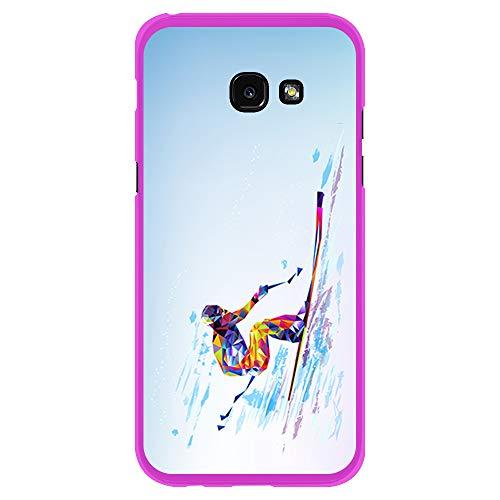 BJJ SHOP Custodia Rosa per [ Samsung Galaxy A5 2017 ], Cover in Silicone Flessibile TPU, Design:...