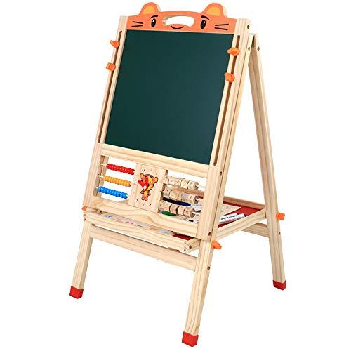 Cavalletto per bambini Cavalletto per bambini in legno 3 in 1 Cavalletto da disegno magnetico a...