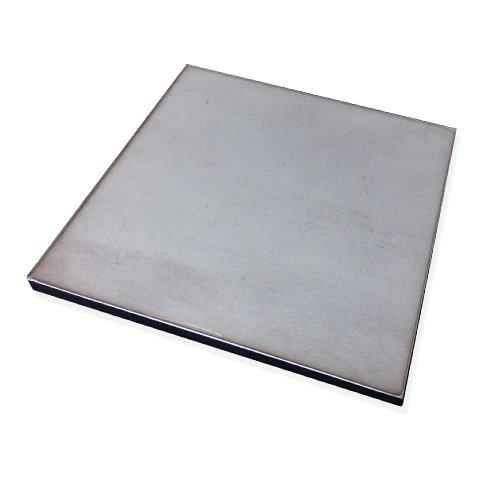 Edelstahlplatte Edelstahl V2A Stahlplatte Fußplatte Rostfrei - 100 bis 200 mm (200 x 200 mm, 3 mm)