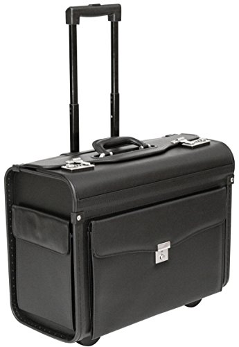 Tassia - Pilotenkoffer - Platz für Akten & Laptop - geeignet für Business, Reisen, Handgepäck - Pilotenkoffer mit Rollen