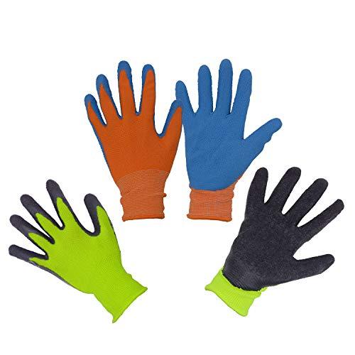 2 paia di guanti da giardino per bambini dai 2 ai 3 anni, dai 4 ai 5 anni, dai 6 ai 13 anni, con...