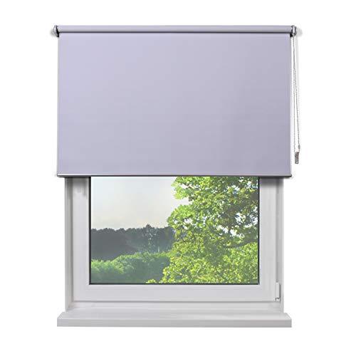 Fertig Verdunkelungsrollo, Rollos für Fenster, Rollo, Farbe weiß, zum Bohren und Schrauben, verdunkelnd und Blickdicht, 160 x 230 cm (BxH)