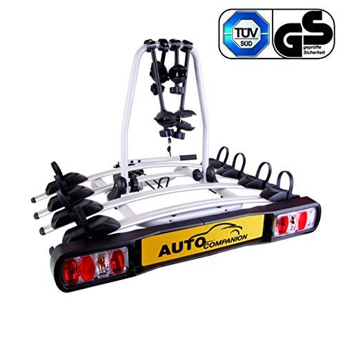 Auto Companion - Piattaforma portabici posteriore, per 2 biciclette, da fissare al giunto sferico di...