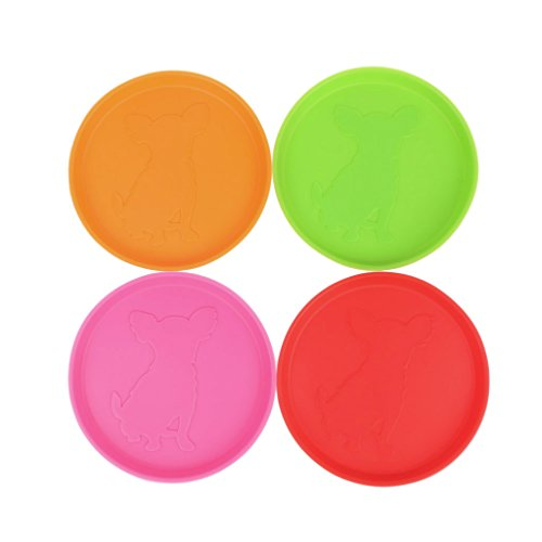 Xuniu Dog Frisbee, Outdoor Training Rubber Flying Discs Perro Interactivo Toy Tooth Resistant 10cm
