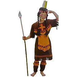 Bermoni Traje de Disfraz Indio Americano-Americano (4 a 6 años) (IND-01)