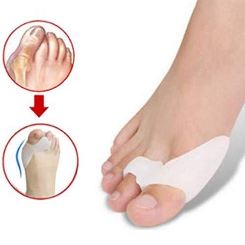 Corrector de juanetes Noondl para alisar los dedos de los pies, de silicona pura, con alisador de dedos de martillo