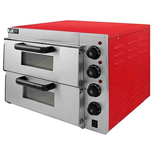 Kukoo - Forno Elettrico a Doppio Ripiano per Pizza da 40cm