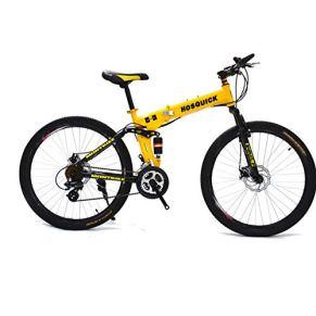 SYCHONG MTB 24 Pulgadas Ruedas De Radios De Doble Suspensión Bicicleta Plegable 21/24 Velocidad De Bicicletas MTB