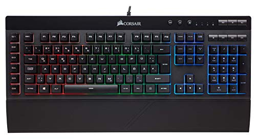 Corsair K55 Gaming Tastatur (Multi-Color RGB Beleuchtung, QWER...