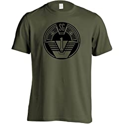 Stargate SG1 - SG1 parche serie de televisión Mission T-camiseta de manga corta