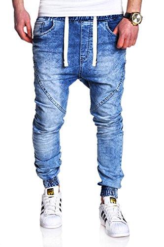 MT Styles Jogg-Jeans RJ-2089 Hose [Hellblau, W36/L32]
