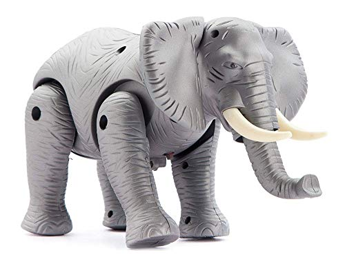 JAY ANTIQUES Kid's Musical and Walking Elephant Battery Operated Toy (Grey and Black)