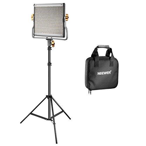 Neewer Video Luce 480 LED Bicolore Dimmerabile & Cavalletto: Faretto LED 3200-5600K CRI 96+ con...