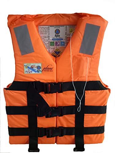 Jilani Apex 5 Star Adult Vest Life Safety Jackets Weight Capacity 40-120+ (Orange)