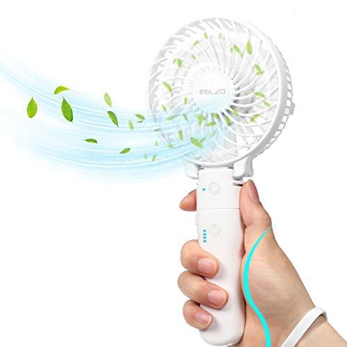 ELZO Ventilatore Portatile palmare Ventola USB Ricaricabile Ventola a Batteria con Funzione Power...
