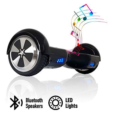 ACBK - Scooter Elettrico Hover Autobilanciato con Ruote da 6.5'' (Bluetooth + Luci a LED) velocità...