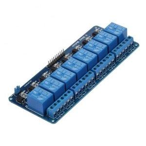 415hKRBBusL - kuman 5V 8 Canales Escudo Módulo de Relé para Arduino UNO-R3 1280 2560 ARM PIC AVR STM32 Raspberry Pi DSP K30