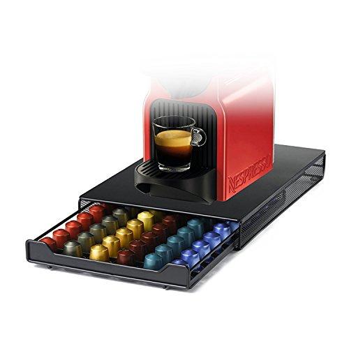 Cassetto Porta Capsule,HiveNets per Nespresso in Metallo,Capacità 60 Pcs