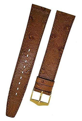 Fortis Swiss Orologio Cinturino in pelle marrone con cuciture marrone 16mm oro 9116