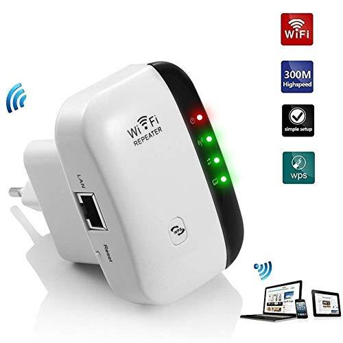 Ripetitore WiFi Mini 300Mbps Ripetitore Segnale WiFi Casa Antenne Esterne, N300 Single Band,2...