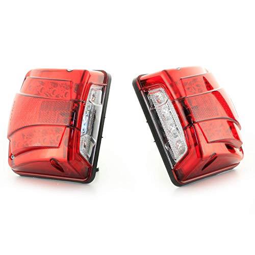 2 luci LED da 24 V a doppia funzione, luce bianca per targa e luce rossa di posizione per camion e rimorchi.